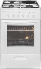 """Плита газ/эл """"Лысьва"""" ЭГ 1/3г14 М2С-2у белая,  со стеклянной крышкой, 50х60 см, 3 газ,1 электрокомфо в Красноуфимске купить"""