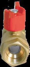 11Б27п1 Кран шаровой латунный Ду15 ВР-ВР бабочка БАЗ арт.А30/1