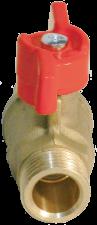 11Б27п1 Кран шаровой латунный Ду15 НР-НР бабочка БАЗ арт.А32/1