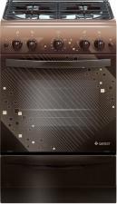 Плита газ. GEFEST 5100-02 0010 коричневый , 50х58 см, 4газ, крышка металл, чугунная решетка, эмаль,