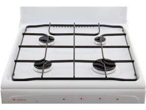 Плита газ. GEFEST 3200-06 белый, 50х57 см, 4газ, крышка металл, эмаль, электророзжиг, газовая духовк