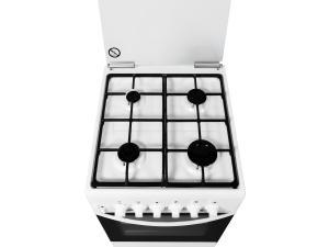 Плита газ./эл. GRETA ГЭ 09 чугун белый, 50х54 см, 4газ, крышка стекло, чугунная решетка, эмаль, элек