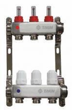 В нашем интернет-магазине вы можете купить в Красноуфимске Артях Ачите TAEN Коллекторную группу 1x3/4x3  выхода с расходомерами и регулир.клапанами  из нержавеющей стали  без воздухоотводчиков и дренажных кранов с универсальным монтажным растоянием между коллекторами под смесительный узел  длиной от 130 до 180 мм.
