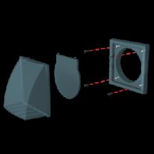 ЭРА.Выход стенной с обр.клап с фланцем D125 1515К12,5ФВ