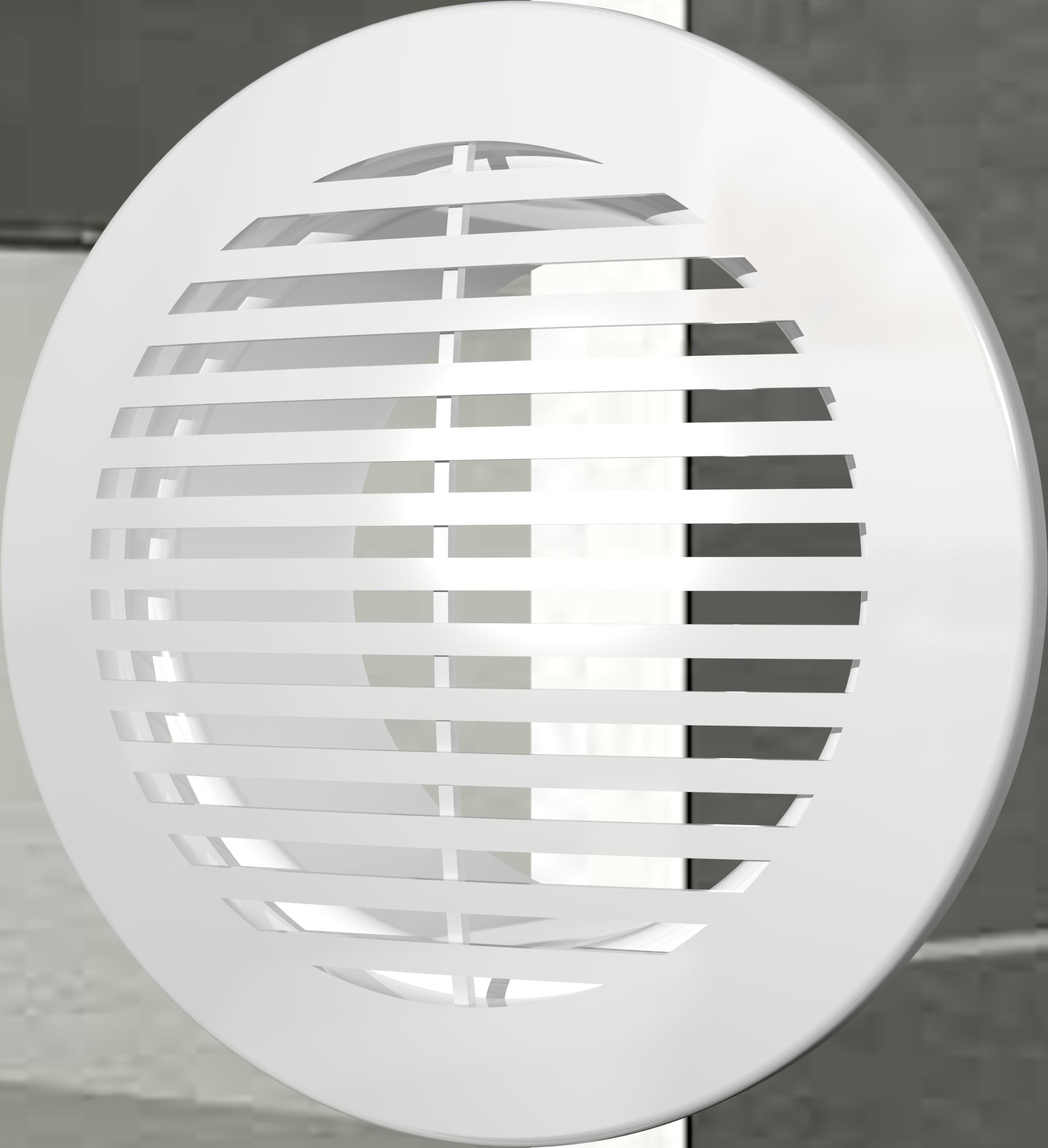 разнообразить пластиковые круглые потолочные вентрешетки фото внутренний дворик