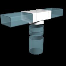 Эковент.Тройник плоский с фитингом 60х204 D=160 620ТФ16П