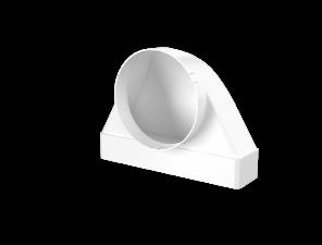 Эковент.Соединитель угловой 60х204 D=100 620СК10ФП
