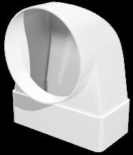 Эковент.Соединитель угловой 60х204 D=100 620СК10КП
