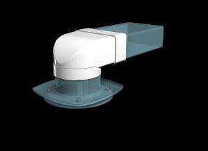 Эковент.Соединитель угловой 60х120 D=100 612СК10ФП