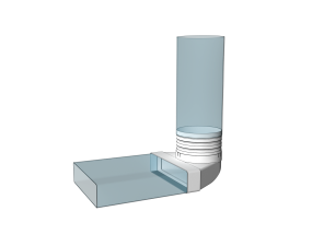 Эковент.Соединитель угловой 60х120 D=100 612СК10КП