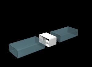 Эковент.Соединитель плоский 60х120 612СКП