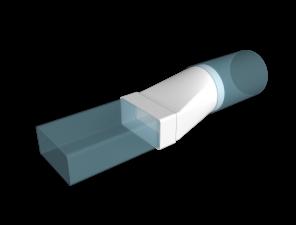 Эковент.Соединитель 60х120 D=100 612СП10КП