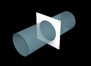 Эковент.Накладка настенная круглая D=125 12,5НКП