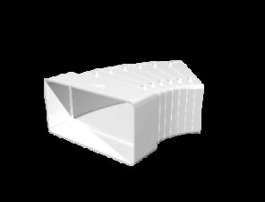 Эковент.Колено плоское разноугл.60х120 612КРП