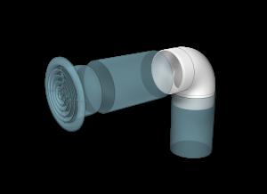 Эковент.Колено круглое D=125 12,5ККП