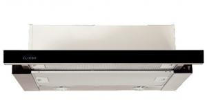 Вытяжка встраиваемая ELIKOR Интегра GLASS 50Н-400-В2Г нерж/стекло черное, 50 см в Красноуфимске купить
