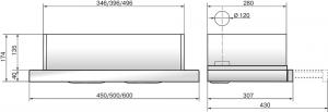 Вытяжка встраиваемая ELIKOR Интегра 60П-400-В2Л белый/дуб неокр, 60 см, 28 см, 400 куб.м/час, 200 Вт