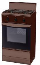 Плита газ. ЛАДА GP 5203 Br коричневый , 50х40 см, 2газ, крышка щиток, эмаль, газовая духовка, откидн в Красноуфимске купить