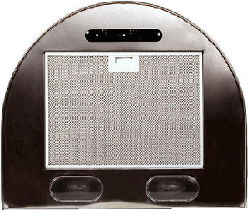 Вытяжка каминная ELIKOR Эпсилон 50П-430-П3Л белый/зол, ширина 50 см, глубина 50 см, 430 куб.м/час, 2